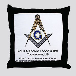 Custom Blue Lodge Products Throw Pillow