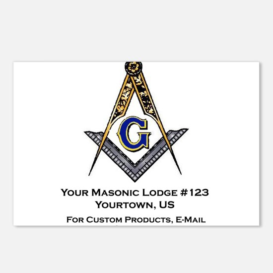 Custom Blue Lodge Products Postcards (Package of 8