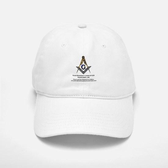 Custom Blue Lodge Products Baseball Baseball Cap