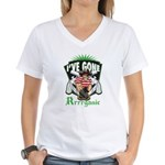Organic Pirate Women's V-Neck T-Shirt