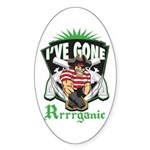 Organic Pirate Sticker (Oval 10 pk)
