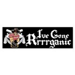 Organic Pirate Sticker (Bumper)