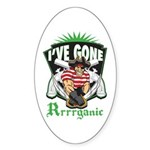 Organic Pirate Sticker (Oval)