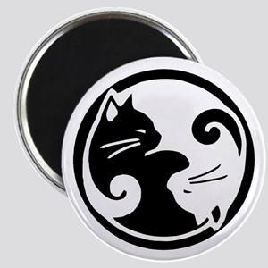 Ying Yang Cats Magnet