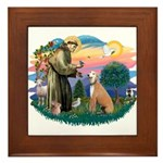 St. Fran #2/ Greyhound (lt.red) Framed Tile