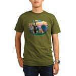 St. Fran #2/ Greyhound (lt.red) Organic Men's T-Sh