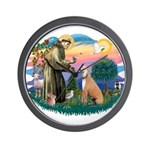 St. Fran #2/ Greyhound (lt.red) Wall Clock