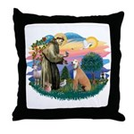 St. Fran #2/ Greyhound (lt.red) Throw Pillow