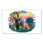 St. Fran #2/ Greyhound (lt.red) Sticker (Rectangle