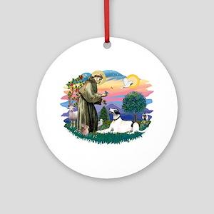 St. Fran. #2/ Greyhound (bw) Ornament (Round)
