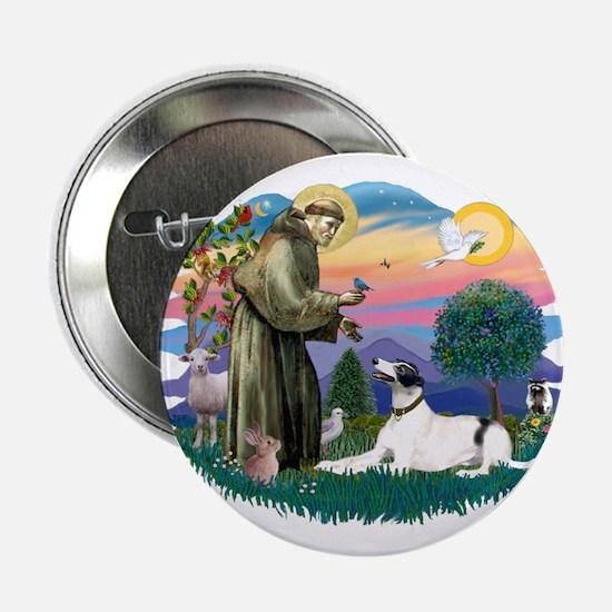 """St. Fran. #2/ Greyhound (bw) 2.25"""" Button"""