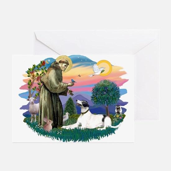 St. Fran. #2/ Greyhound (bw) Greeting Cards (Pk of