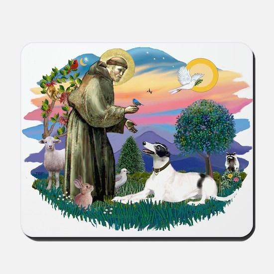 St. Fran. #2/ Greyhound (bw) Mousepad
