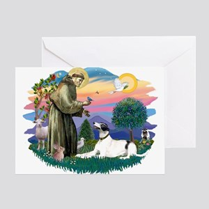 St. Fran. #2/ Greyhound (bw) Greeting Card