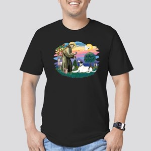 St. Fran. #2/ Greyhound (bw) Men's Fitted T-Shirt