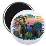 St Fran./ G Schnauzer (blk) Magnet