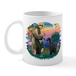 St Fran./ G Schnauzer (blk) Mug