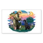St Fran./ G Schnauzer (blk) Sticker (Rectangle)