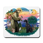 St Fran./ G Schnauzer (blk) Mousepad