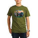 St Fran./ G Schnauzer (blk) Organic Men's T-Shirt
