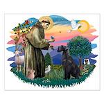 St Fran./ G Schnauzer (blk) Small Poster