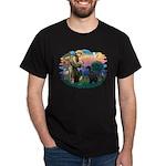 St Fran./ G Schnauzer (blk) Dark T-Shirt