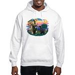 St Fran./ G Schnauzer (blk) Hooded Sweatshirt