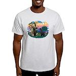 St Fran./ G Schnauzer (blk) Light T-Shirt