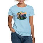 St Fran./ G Schnauzer (blk) Women's Light T-Shirt