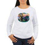 St Fran./ G Schnauzer (blk) Women's Long Sleeve T-