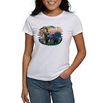 St Fran./ G Schnauzer (blk) Women's T-Shirt
