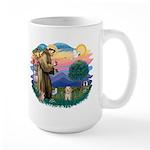 St.Fran. #2/ Havanese pup Large Mug