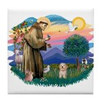 St.Fran. #2/ Havanese pup Tile Coaster