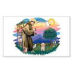 St.Fran. #2/ Havanese pup Sticker (Rectangle)
