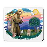 St.Fran. #2/ Havanese pup Mousepad