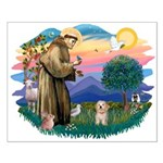 St.Fran. #2/ Havanese pup Small Poster
