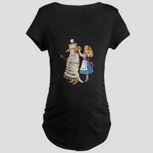ALICE & THE WHITE QUEEN Maternity Dark T-Shirt