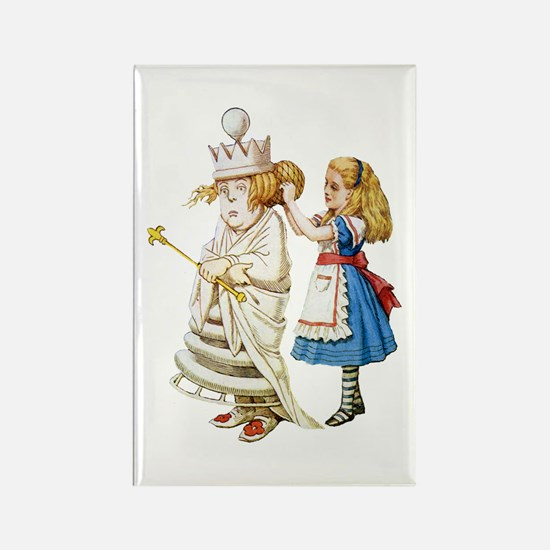ALICE & THE WHITE QUEEN Rectangle Magnet