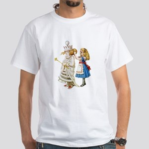 ALICE & THE WHITE QUEEN White T-Shirt