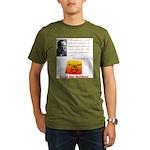 Rothbard's Button Organic Men's T-Shirt (dark)
