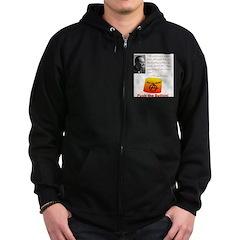 Rothbard's Button Zip Hoodie (dark)