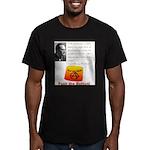 Rothbard's Button Men's Fitted T-Shirt (dark)