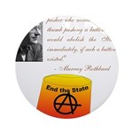 Rothbard's Button Ornament (Round)