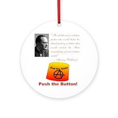 Rothbard's Button Ornament (Round)