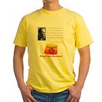 Rothbard's Button Yellow T-Shirt