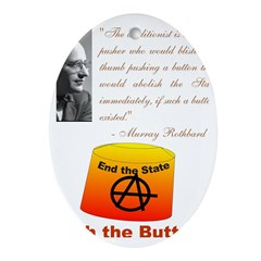 Rothbard's Button Ornament (Oval)