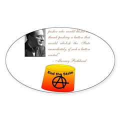 Rothbard's Button Sticker (Oval)
