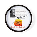 Rothbard's Button Wall Clock