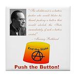 Rothbard's Button Tile Coaster