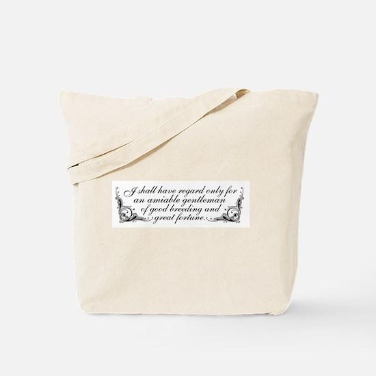Jane Austen Inspired Tote Bag
